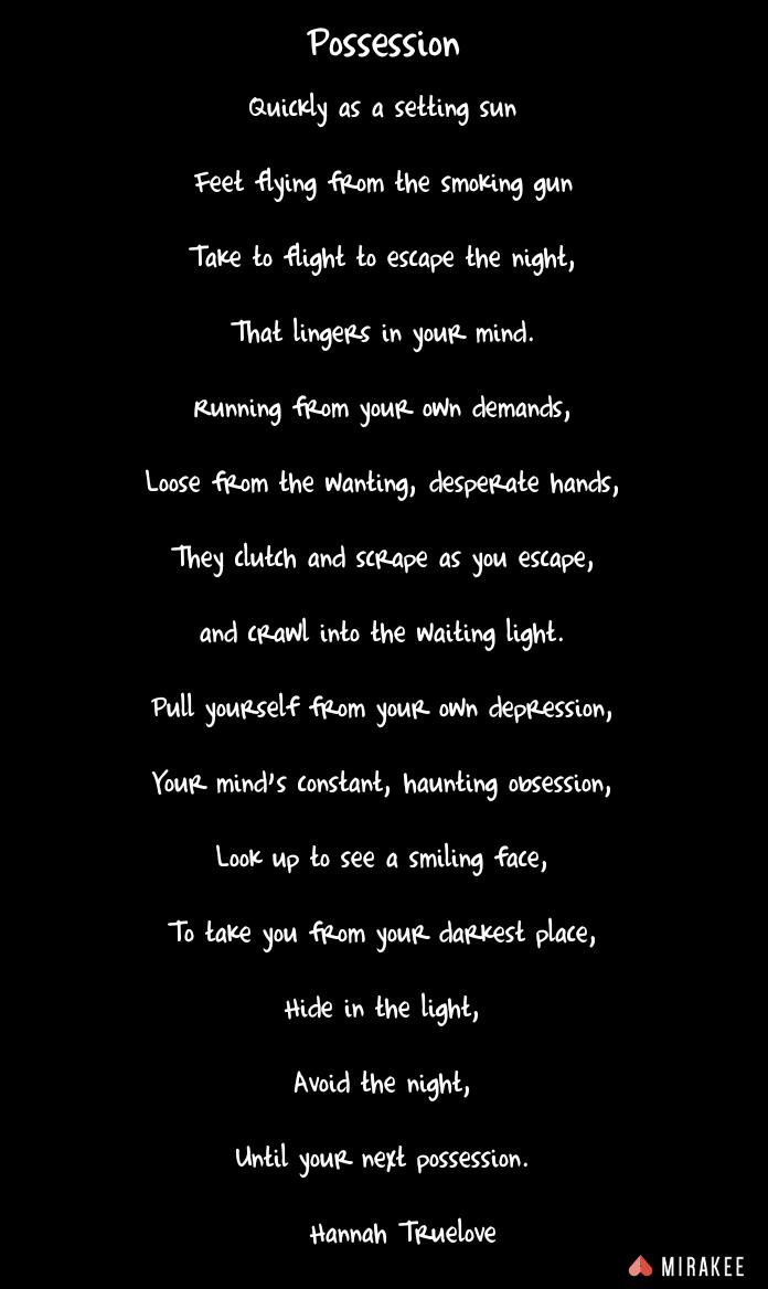 Depression poem image