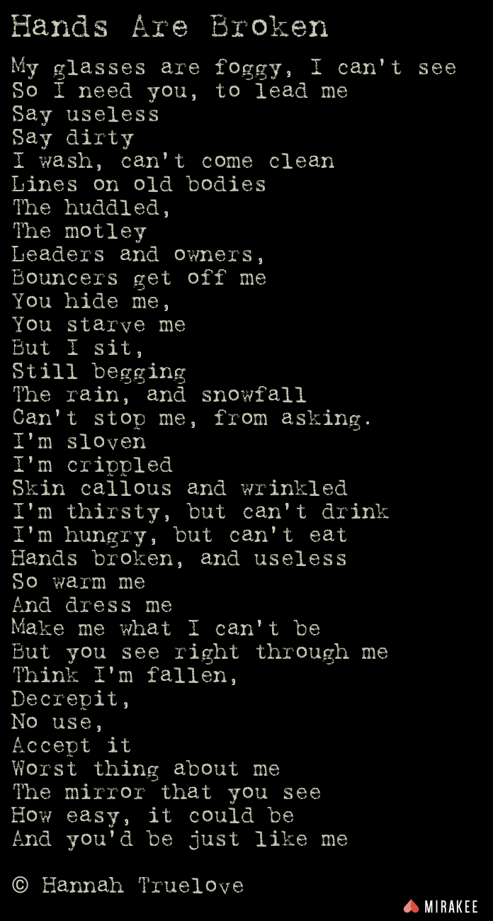 Homeless Poetry Image