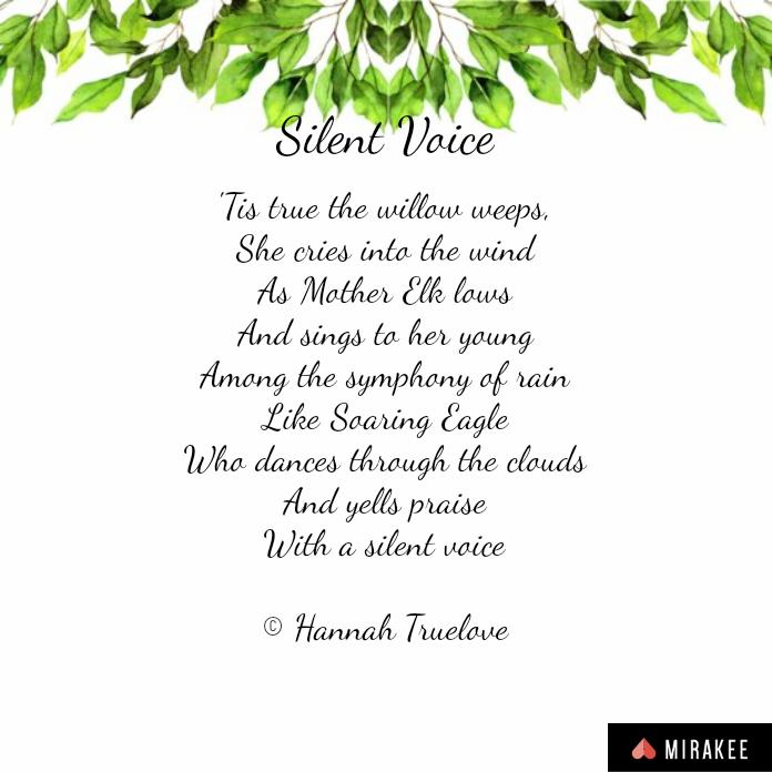 Silent voice poem image