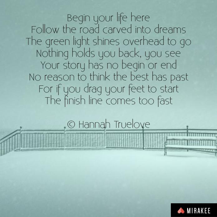 Begin Poem Image