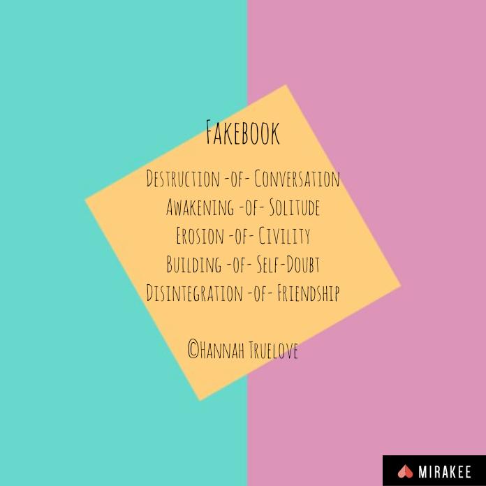 Destruction -of- ConversationAwakening -of- SolitudeErosion -of- CivilityBuilding -of- Self-DoubtDisintegration -of- Friendship©Hannah Truelove