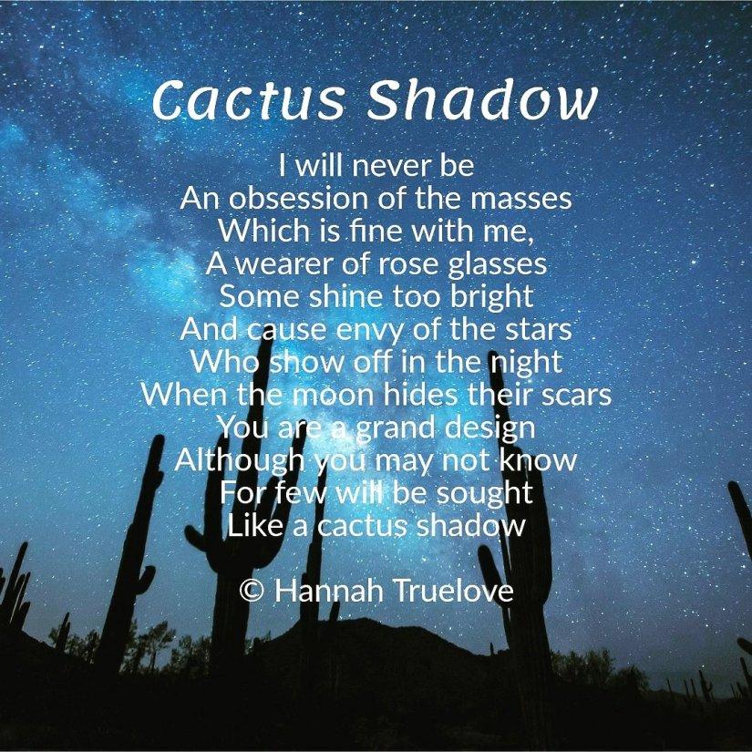 Cactus Shadow Poem
