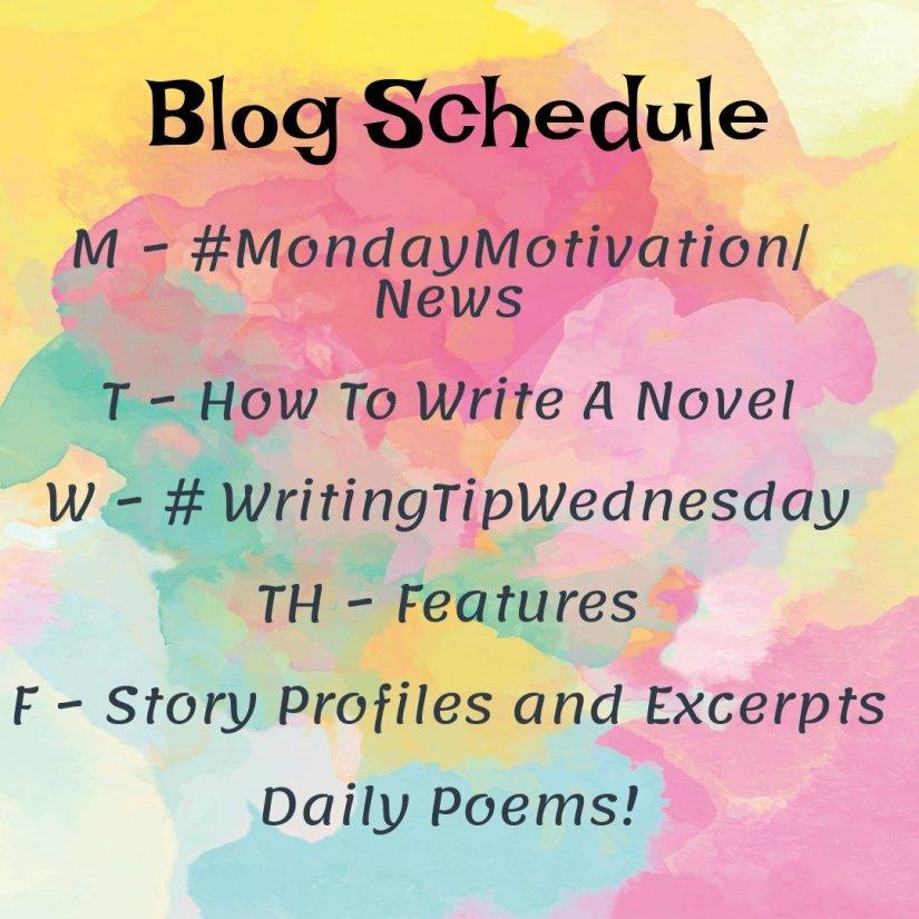 Blog Schedule Hannah Truelove Writing