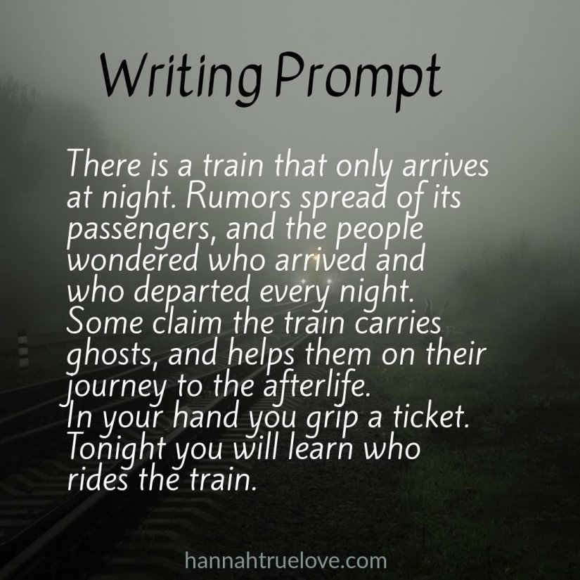 Spooky train writing prompt