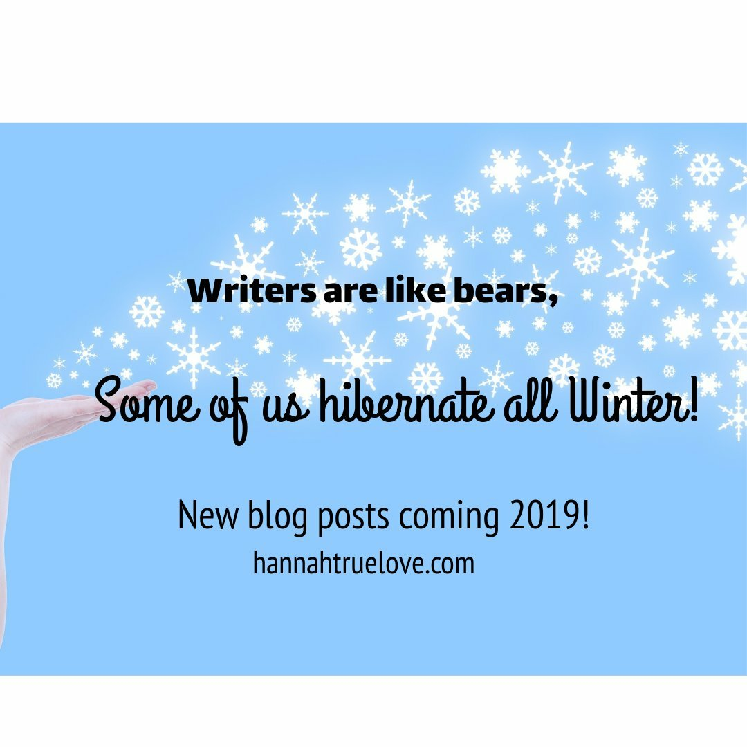 Writers are like bears, some of us hibernate all winter image